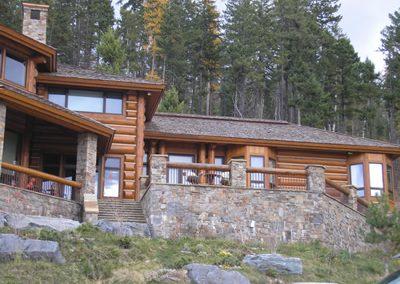 Log Cabin Siding with Vertical Corner